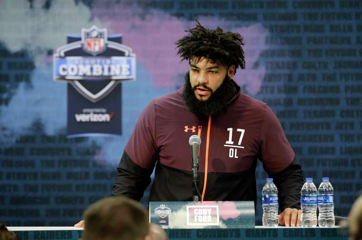 PHOTOS: 2018 NFL combine winners and losers Oklahoma offensive lineman Cody Ford speaks during a press conference at the NFL football scouting combine, Thursday, Feb. 28, 2019, in Indianapolis. (AP Photo/Darron Cummings) >>>Look back at the winners and losers from last year's NFL scouting combine ...
