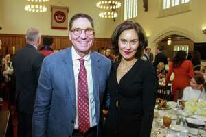 EMBARGOED FOR SOCIETY REPORTER UNTIL FEB. 26 Scott McClelland and Laura Arnold at the Breakthrough luncheon at St. John's School.