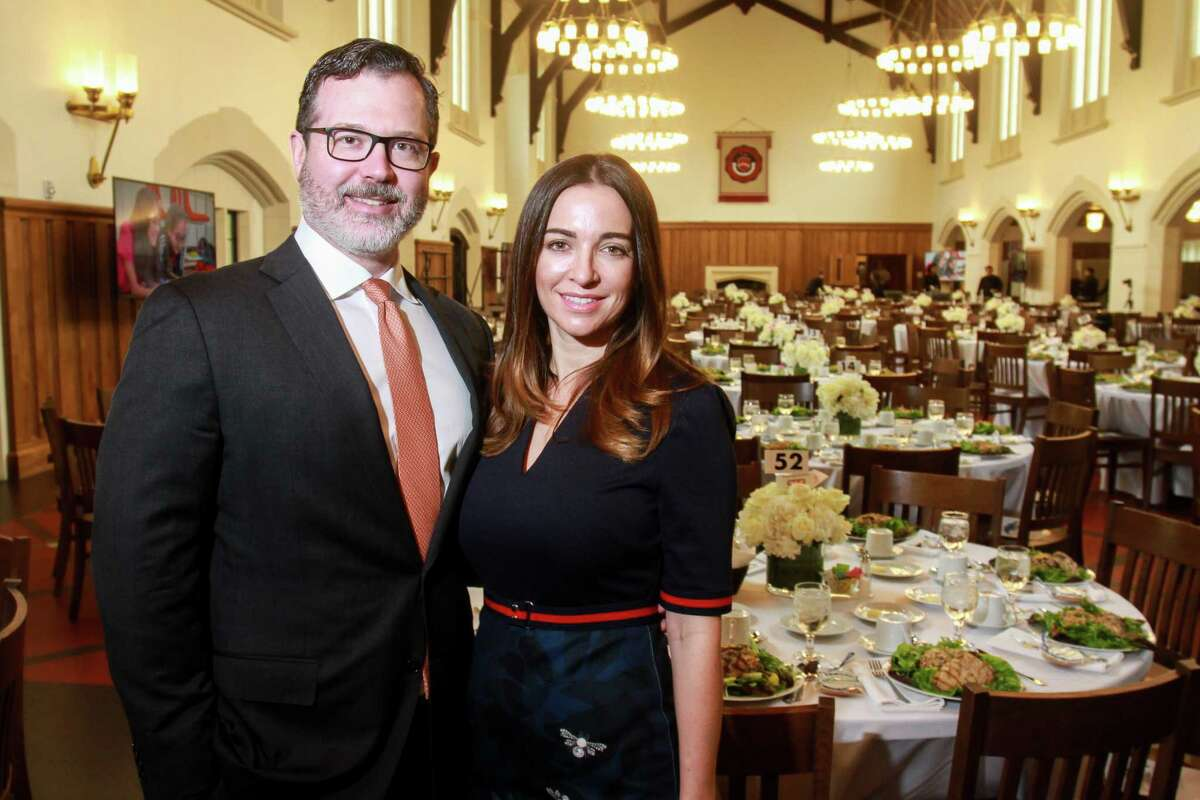 Co-chairs Brooks and Sarah Shughart at the Breakthrough luncheon at St. John's School.