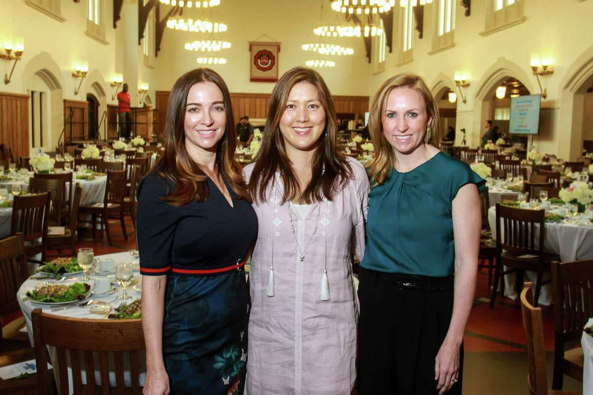 Co-chairs Sarah Shughart, from left, Sue Sim and Alicia Summers at the Breakthrough luncheon at St. John's School.
