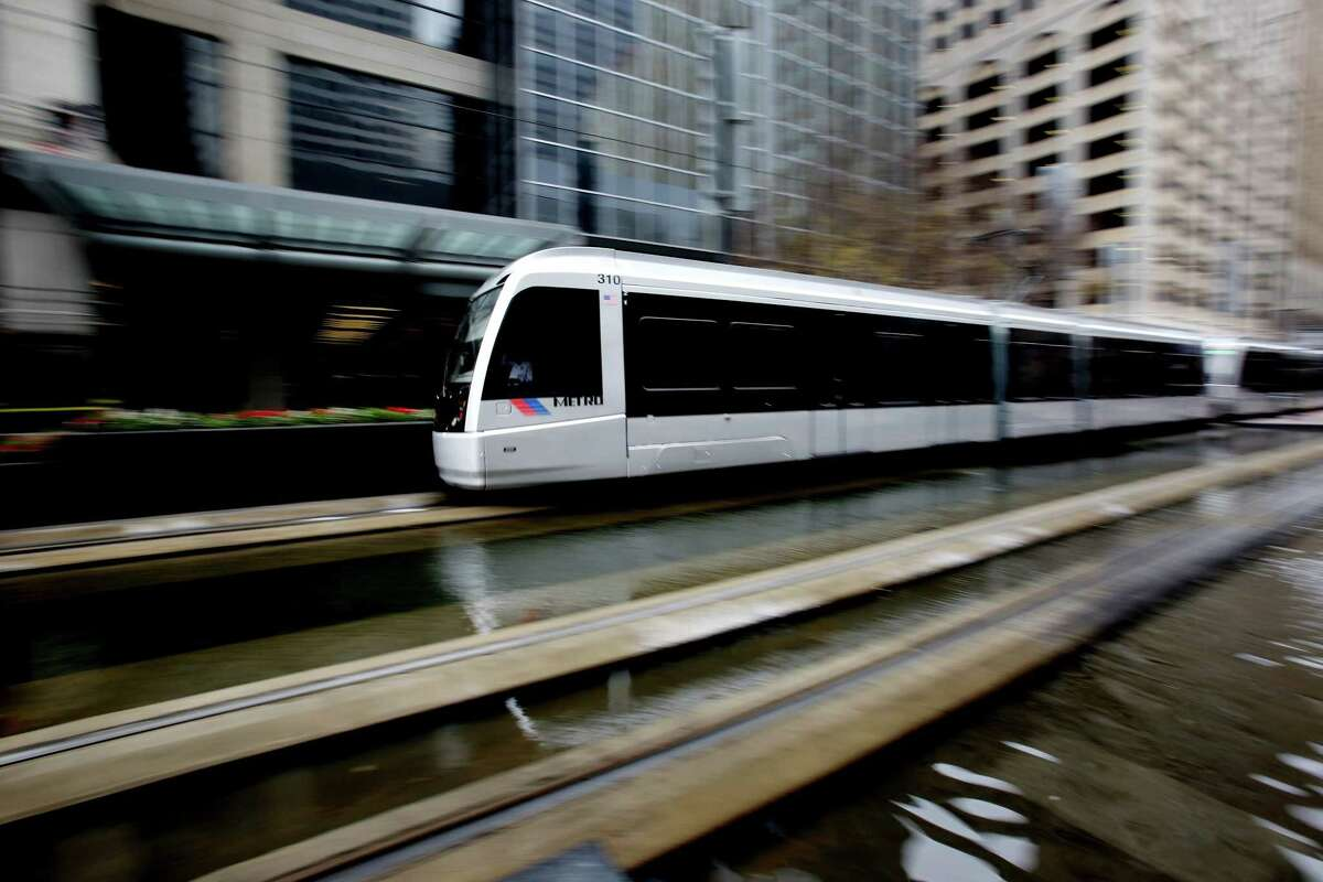 Houston's Metro transports passengers in 2015. San Antonio is the largest U.S. city without rail - puzzling considering its economic and environmental benefits.