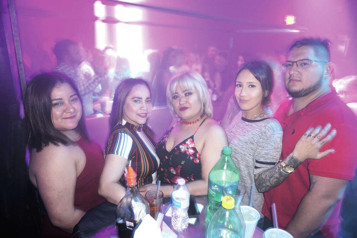 Judy Garcia, Elsa Rodriguez, Elena Ruiz, Nicole and Jesse Mata at Club Vibe