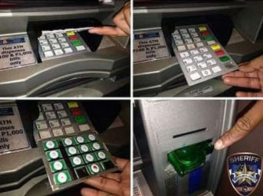 The Montgomery County Sheriff's office helps residents learn to recognize signs of skimming in ATMs. Photo: MCSO