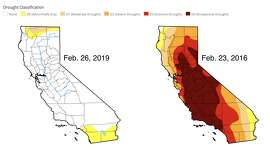 Feb. 26, 2019 vs. Feb. 23, 2016    The Drought Monitor is a joint effort among NOAA, the USDA and the National Drought Mitigation Center at the University of Nebraska-Lincoln. A map is released each week with drought conditions across the country, indexing everything from groundwater storage to river levels. It's primarily used for agriculture.