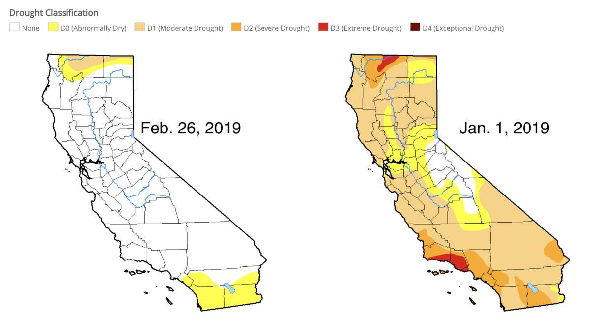 Feb. 26, 2018 vs. Jan. 1, 2019 The Drought Monitor is a joint effort among NOAA, the USDA and the National Drought Mitigation Center at the University of Nebraska-Lincoln. A map is released each week with drought conditions across the country, indexing everything from groundwater storage to river levels. It's primarily used for agriculture.