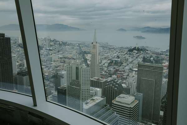Now Salesforce Tower has cracked windows — but they're on the inside