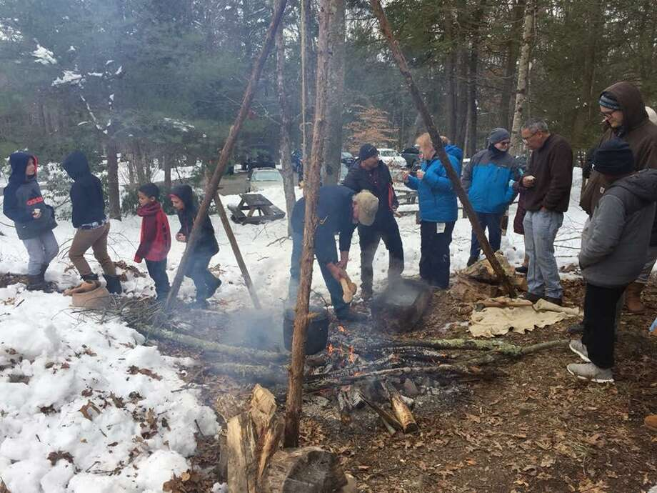 """Visitors at the event in Washington on March 9 will learn how syrup was made by a """"stone boiling"""" technique. Photo: Contributed /The Institute For American Indian Studies, /"""