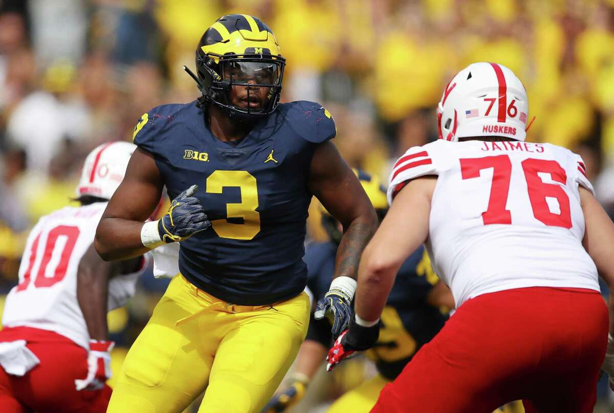 RASHAN GARY, MICHIGAN Michigan's Rashan Gary has been linked to the Seahawks in a handful of mock drafts, and even reportedly visited the team earlier this week. Seattle, however, would probably need to trade up to get him. Armed with two first-round picks now -- pick No. 29 coming to the team in the deal for Clark -- the Seahawks certainly have the wherewithal to do so. Gary -- a former five-star recruit and a two-time first-team All-Big Ten performer -- had 110 tackles, 19 for loss and 9.5 sacks combined in his last two seasons in Ann Arbor. NFL.com says Gary is more of a face-up, bull-rushing defender than a player who will take on opposing tackles on the edge.