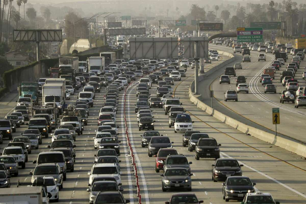 For nearly five years, the 110 Freeway's carpool lanes have been open to solo drivers who want to avoid bumper-to-bumper traffic. But that privilege comes at a price. Driving the 11-mile toll route from the 105 Freeway to downtown Los Angeles can cost $20 or more during the most congested periods of morning rush hour - for the drivers who actually pay, that is. On any given morning, more than 25% of drivers in the toll lanes have evaded the single-driver toll, a problem that has become the top issue for Metropolitan Transportation Authority's traffic officials. The high scofflaw rate has harmed the efficiency of the lanes, driving up prices and slowing down speeds for the customers who did pay to enter, they said. (Irfan Khan / Los Angeles Times/TNS)