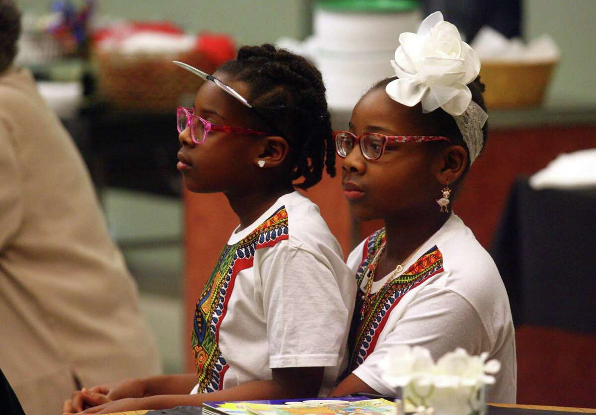 The Wexler Grant Community School hosts a community dinner to celebrate the close of Black History Month in New Haven, Conn., on Thursday Jan. 28, 2019.. The dinner, sponsored by the Family Resource Center and Title I, is called