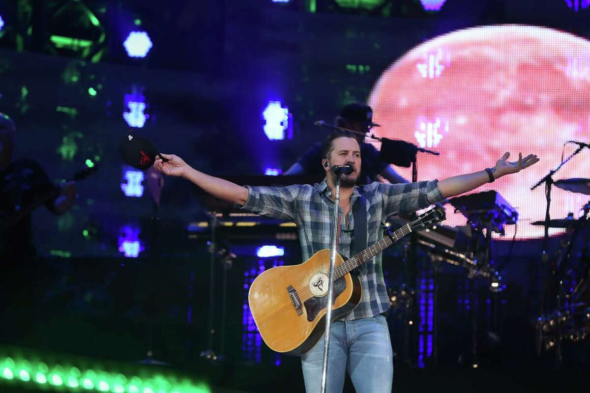 Luke Bryan performs at the Houston Livestock Show and Rodeo Thursday, Feb. 28, 2019, in Houston.