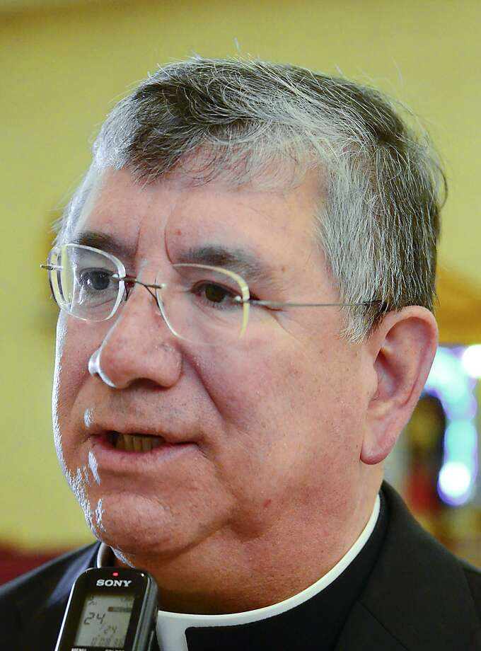Bishop James A. Tamayo, of the Diocese of Laredo, talks about the conclave and process for the selection of a Pope for the Catholic Church. Photo: CUATE SANTOS / LAREDO MORNING TIMES