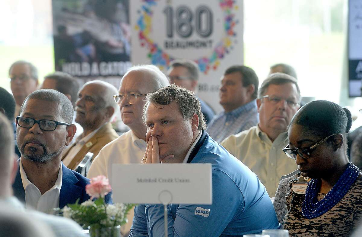 The crowd listens as Mayor Becky Ames presents the annual State of the City, hosted by the Beaumont Chamber of Commerce Thursday. Photo taken Thursday, February 28, 2019 Kim Brent/The Enterprise