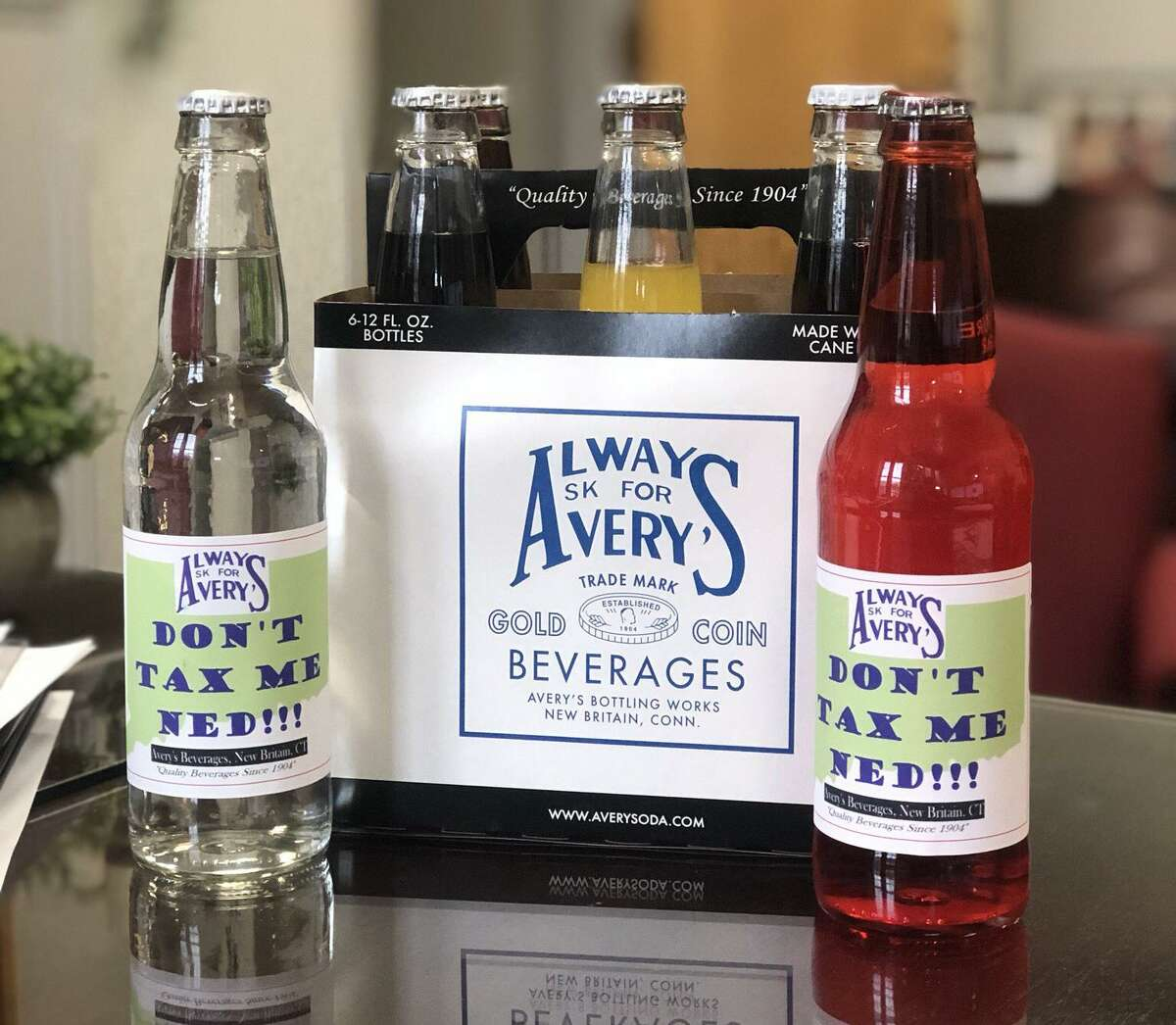 """A long-time New Britain independent soda manufacturer has found a way to express its displeasure with Gov. Ned Lamont's proposed tax on soda. Avery's Beverages, in business on Corbin Avenue in New Britain for more than a century is producing a limited edition """"Don't Tax Me Ned!"""" brand that the company hopes to deliver to the legislature."""