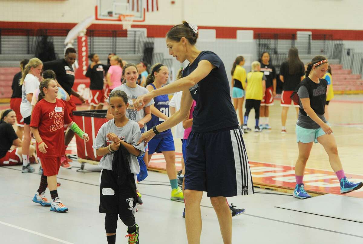 Rebecca Lobo's Clinic Against Cancer basketball clinic for girls at Sacred Heart University in Fairfield on August 9, 2015. All of the proceeds will benefit the Connecticut Sports Foundation Against Cancer.