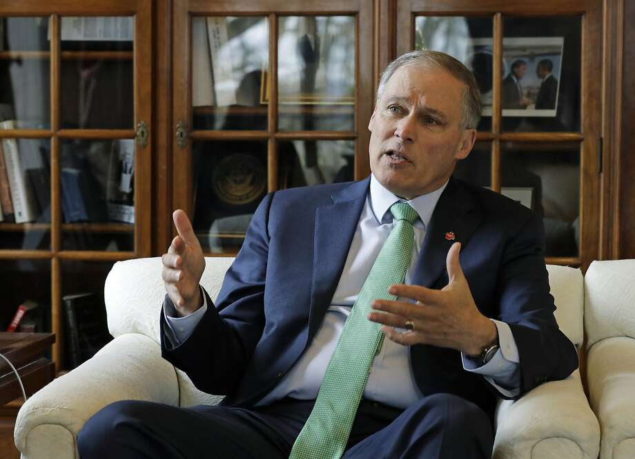 Washington Gov. Jay Inslee acknowledges that he is not as well known as his rivals in the presidential campaign. But he says his emphasis on tackling climate change will set him apart. Photo: Ted S. Warren / Associated Press