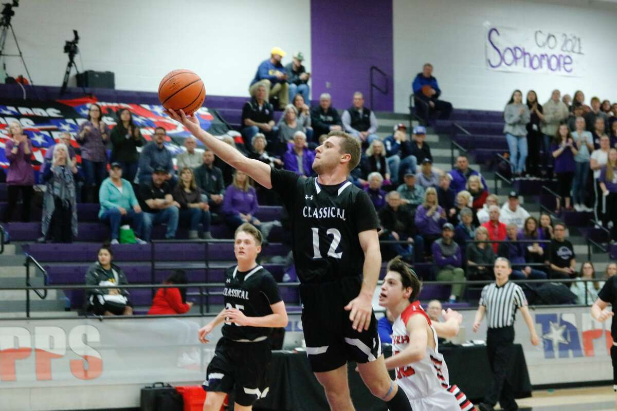 The Midland Classical boys basketball team, in its initial TAPPS state tournament appearance, is headed to Friday's championship game, after a 57-51 TAPPS 3A semifinal victory over Dallas Yavneh, Thursday afternoon at University High School.
