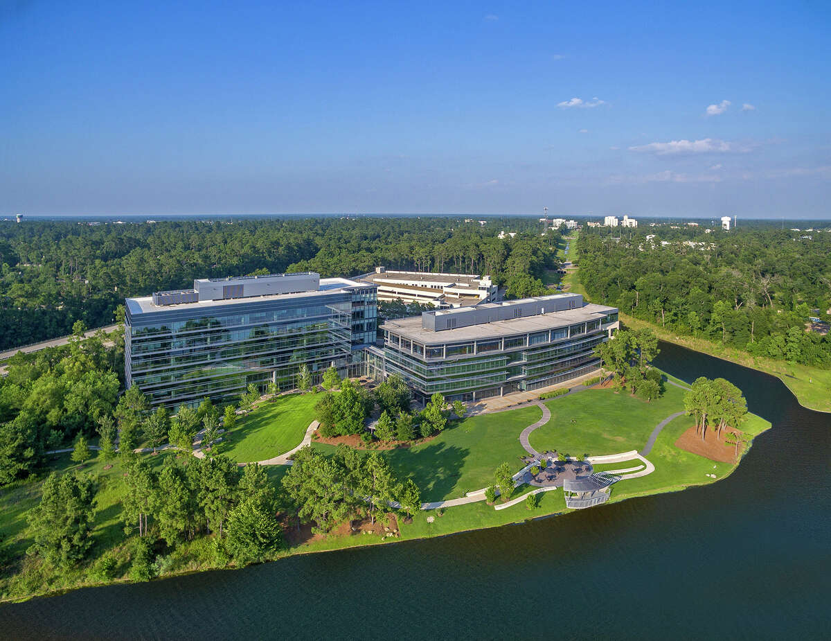 The Lake Front North office campus on Lake Woodlands.