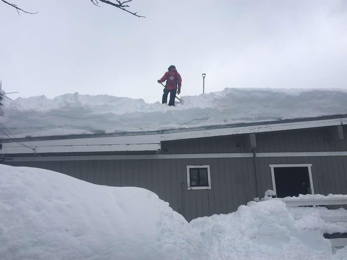 Employees of Squaw Valley Alpine Meadows dealt with insane snow build-up on Feb. 27, 2019.