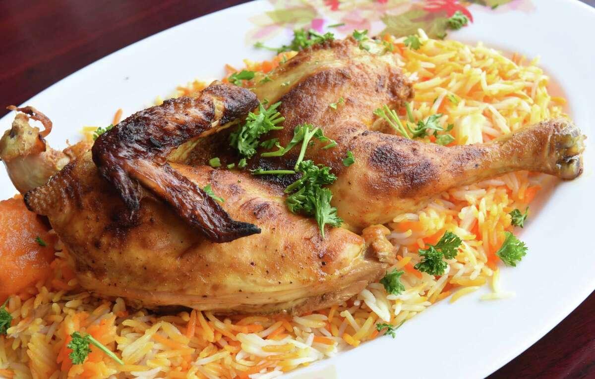 Mandi Chicken - half portion at Sheba al-Yemen on Central Ave. on Thursday, Feb. 21, 2019 in Albany, N.Y. (Lori Van Buren/Times Union)