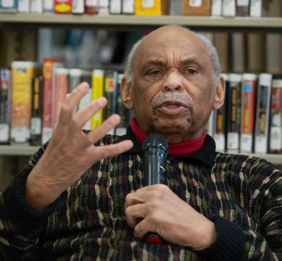 Reginald Petty, activist, educator, author, historian and former Peace Corp director, gave a presentation on civil rights at the SIUE East St. Louis Center Learning Resource Center. Photo: For The Telegraph
