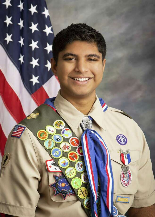 On Oct. 10, 2018, Rohan Bhat, son of Ayshwarya and Chetan Bhat of Katy, achieved the rank of Eagle Scout, Scouting's highest rank. Photo: Courtesy Photo