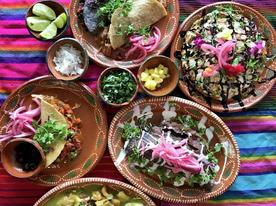 A selection of plates from Sol de Mexico. Photo: Paul Stephen / Staff