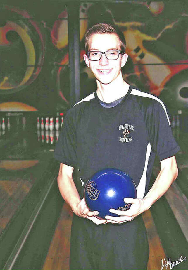 Sophomore Jackson Budwell led the Edwardsville boys' bowling team with 6,476 total pins and 39 games bowled. His 166 average tied for second on the team.