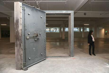 The former underground bank vault seen at 1455 Market St. is being converted into office space on Tuesday, Feb. 26, 2019, in San Francisco, Calif.