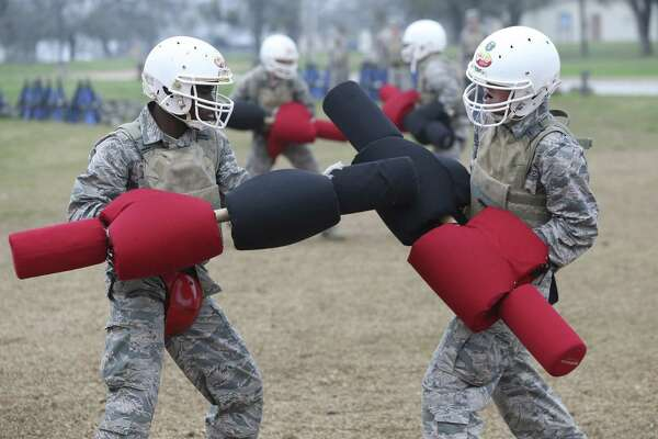 Airmen wear their warrior faces at transformed basic