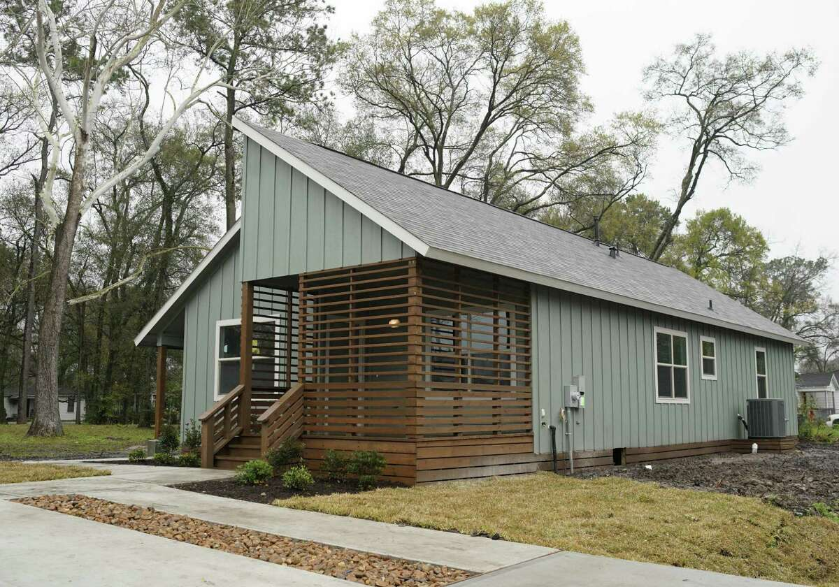 A home at 6910 McWilliams Dr. in Acres Homes is shown Thursday, Feb. 21, 2019, in Houston. The city plans to build 250 new homes this year for low-income families.