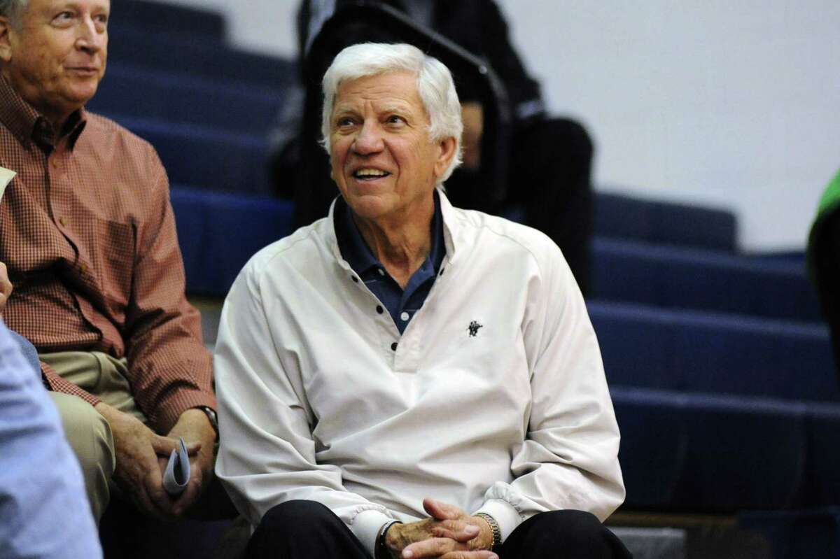 Former Clear Lake head basketball coach Bill Krueger still attends many games at the fieldhouse named after him on the Falcon campus.