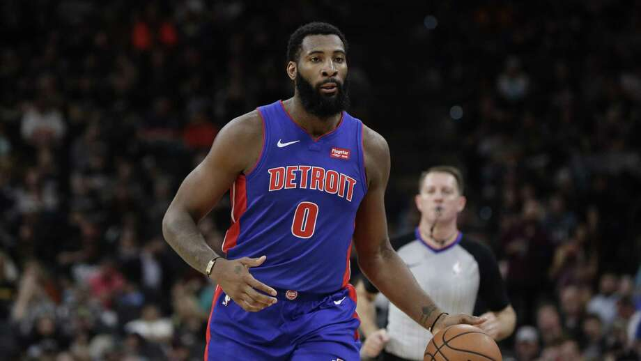 Detroit Pistons center Andre Drummond, a former Middletown, Connecticut, resident, is shown during the first half of an NBA basketball game against the San Antonio Spurs in San Antonio Feb. 28. Photo: Eric Gay / Associated Press / Copyright 2019 The Associated Press. All rights reserved.