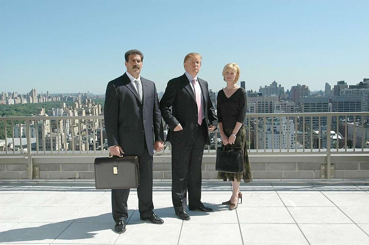 "GOODMAN10 NBC Alternative Series -- ""Episode #9 - Bringing Down the House"" -- Pictured: (l-r) Matthew Calamari, Donald Trump, Carolyn Kepcher -- NBC Photo"