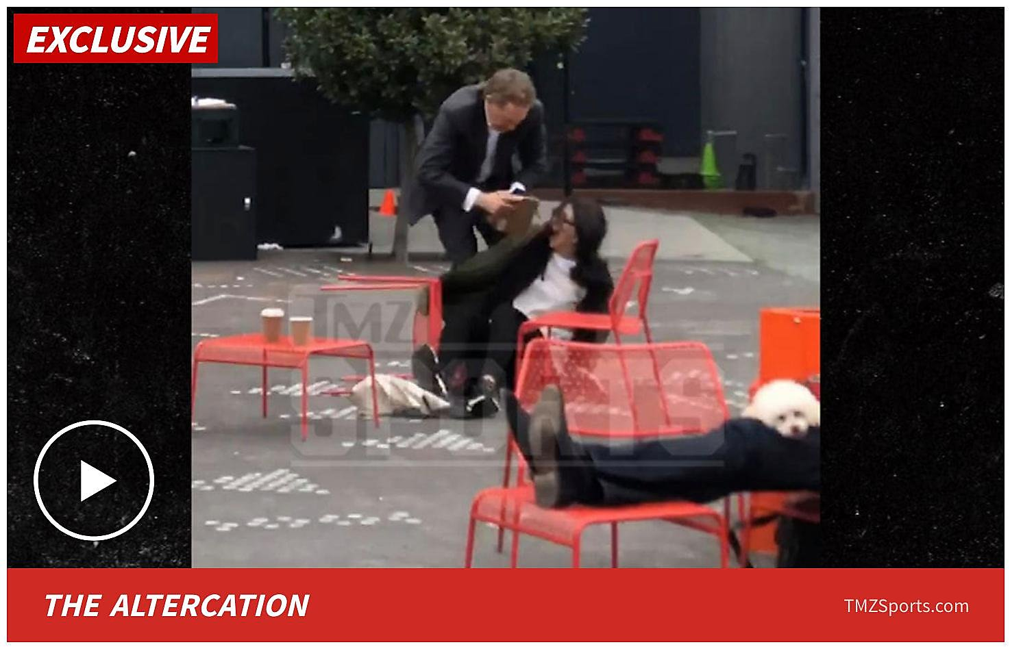 Video shows Giants CEO Larry Baer pulling wife to ground in San Francisco plaza