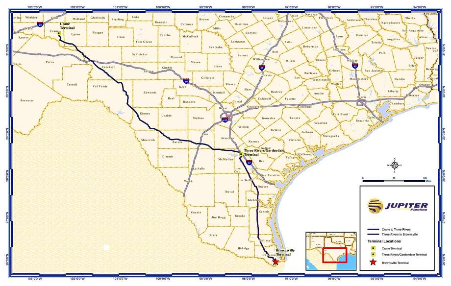 Dallas-based midstream company Jupiter Energy Group has extended an open season to book capacity on a proposed pipeline to move crude oil from the Permian Basin of West Texas to the Port of Brownsville. Photo: Jupiter Energy Group