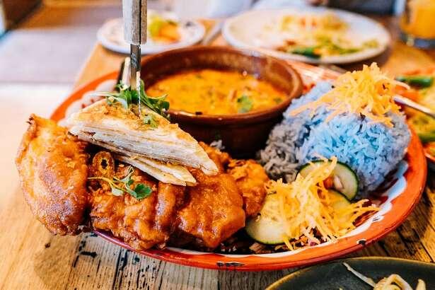 Fried chicken served at Farmhouse Kitchen Thai Cuisine.