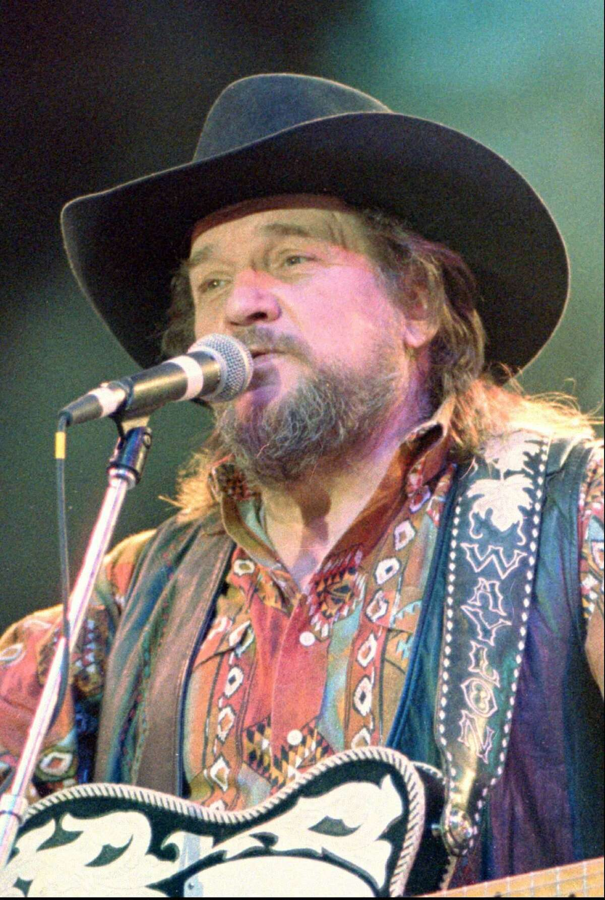 Waylon Jennings, shown in this March 1992 file photo