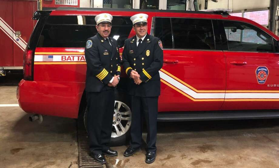 Robert Colangelo, a lifelong first responder, was officially sworn in Jan. 30 as the Wallingford Fire Department's newest Chief Battalion Officer, replacing John Duffy, who has retired. Colangelo's career began in 1986 at the age of 15 with the North Branford Junior Volunteer Fire Department, Company 1. Colangelo later went on to become an EMT, MRT, firefighter and paramedic, lieutenant, and in 2005 Colangelo was appointed Deputy Chief Training Officer for the town of North Branford. In 1997, Colangelo became a career firefighter and paramedic for the town of Wallingford, where he was promoted to lieutenant before earning his current rank. He has received numerous awards and recognitions throughout his career as a first responder including, among others, the American Red Cross 911 Response Award, Heroes of New Haven County in 2002 and Official Citations from the State of Connecticut General Assembly in 1998, 1999, 2000, and 2001. Colangelo also served after the 9/11 terrorist attacks in New York City in 2001. Photo: Haley Lutar / Contributed Photo