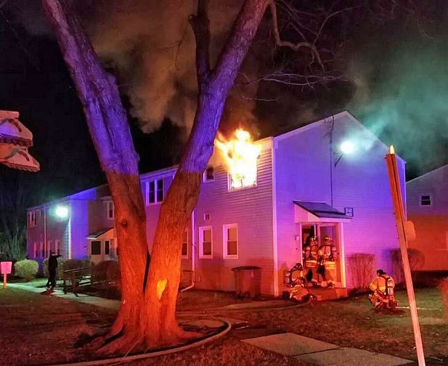 A second-floor apartment on Dale Street in Stamford was heavily damaged in an early morning fire on Wednesday, Feb. 27, 2019. Photo: Stamford Fire Department Photo