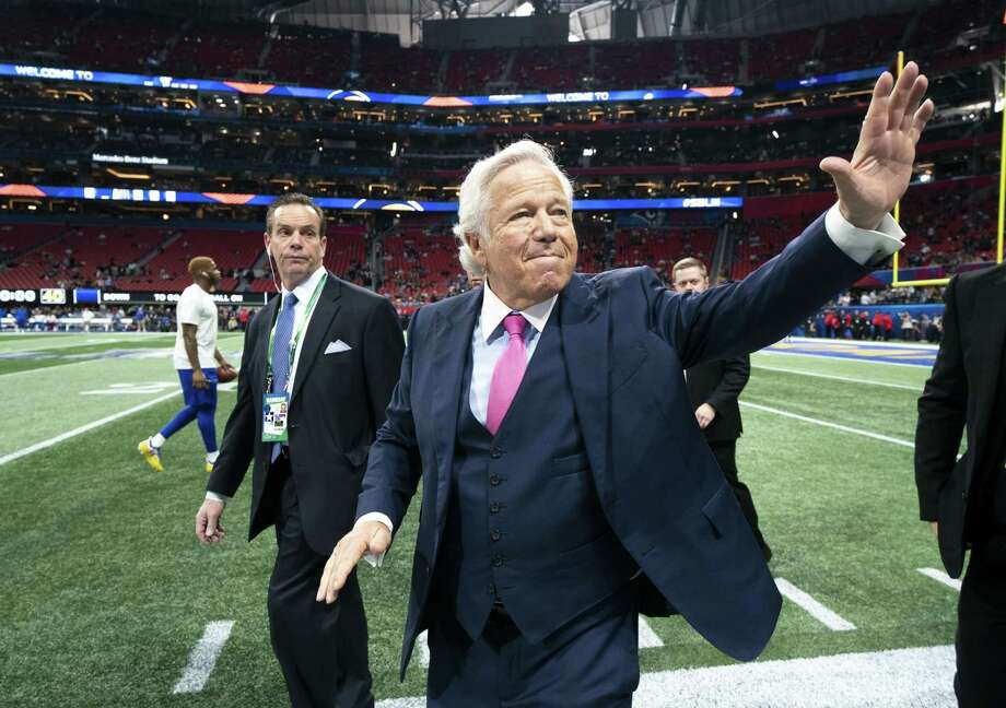 New England Patriots owner Robert Kraft at the Super Bowl between the Patriots and the Los Angeles Rams in Atlanta, Feb. 3. Kraft, who has been charged with two misdemeanor counts of soliciting sex in Florida, will not get special treatment from the NFL, according to a statement from the league, although he is on a committee that sets Commissioner Roger Goodell's salary. Photo: DOUG MILLS /NYT / NYTNS