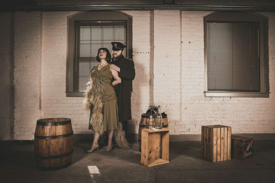 "Emily Curro and Shayne David Cameris, from the ""Prohibition Project"" company. (Photo by Sarah Pezdek)"