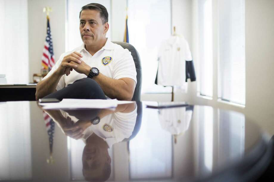 Houston Fire Department Chief Sam Peña at his office in the Houston Fire Department headquarters in Houston. Friday, July 6, 2018, in Houston. ( Marie D. De Jesús / Houston Chronicle ) Photo: Marie D. De Jesús, Staff Photographer / Houston Chronicle / © 2018 Houston Chronicle