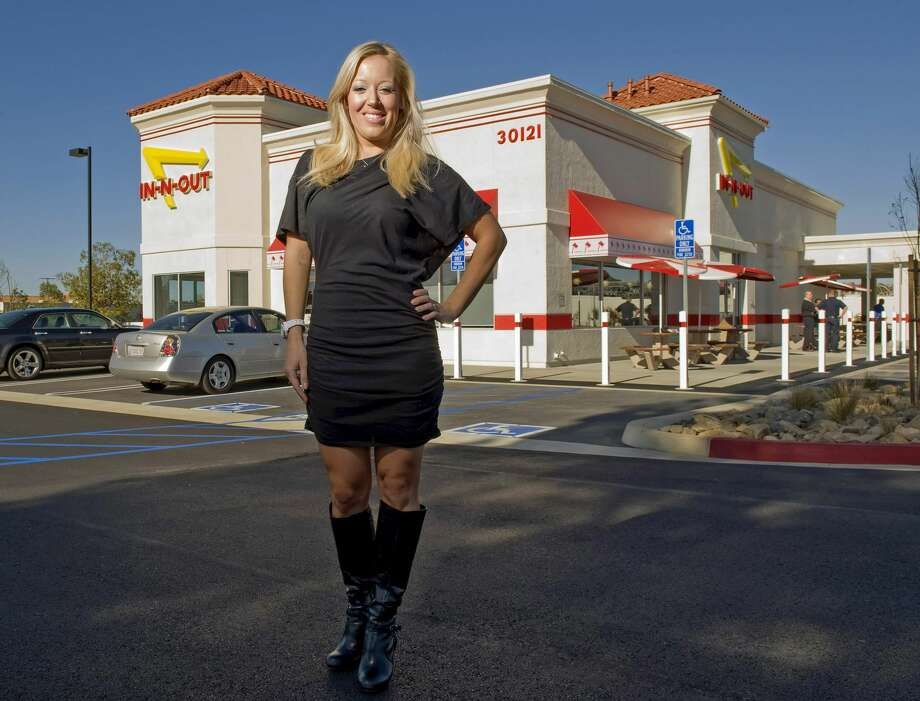 In-N-Out Burger CEO Lynsi Snyder shown outside the new restaurant in Rancho Santa Margarita, Calif. on Wednesday, February 13, 2013. Photo: MediaNews Group/Orange County Re/Digital First Media Via Getty Im