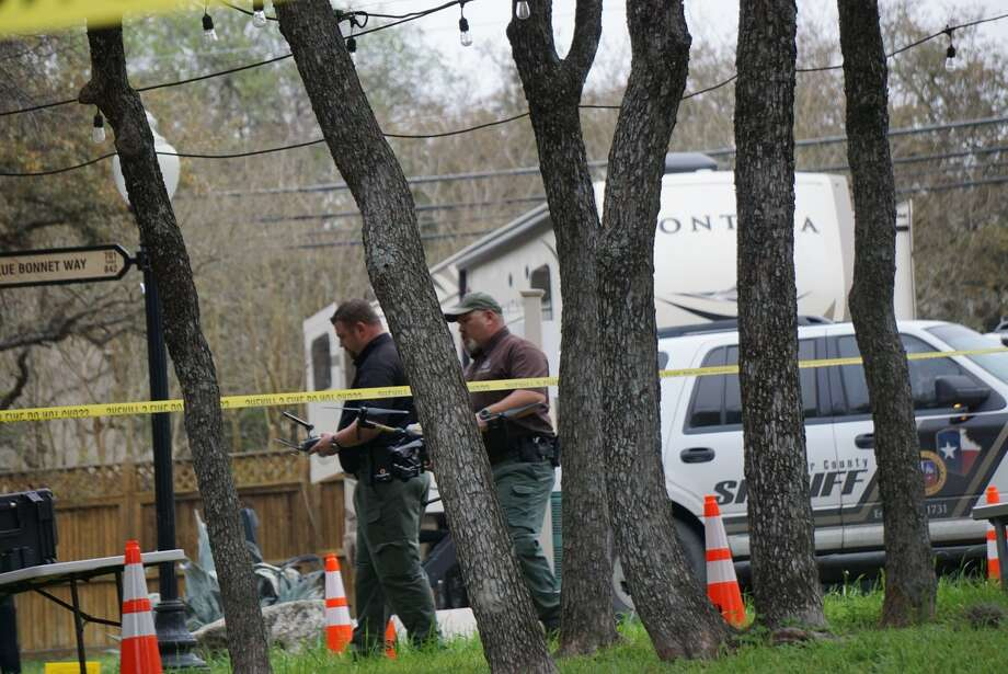 A man was shot by a Bexar County sheriff's office deputy Friday March 1, 2019, in a neighborhood off Military Drive near Loop 1604. Photo: Jacob Beltran