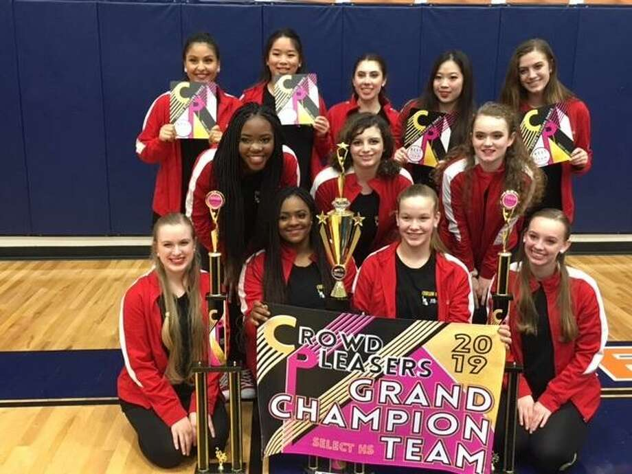 St. John XXIII College Preparatory has announced that the Crimson Cadets earned Grand Champion 1st Place Overall for select small teams at the Crowd Pleasers Dance Competition held in February at Bridgeland High School in Cypress. Photo: Courtesy Photo