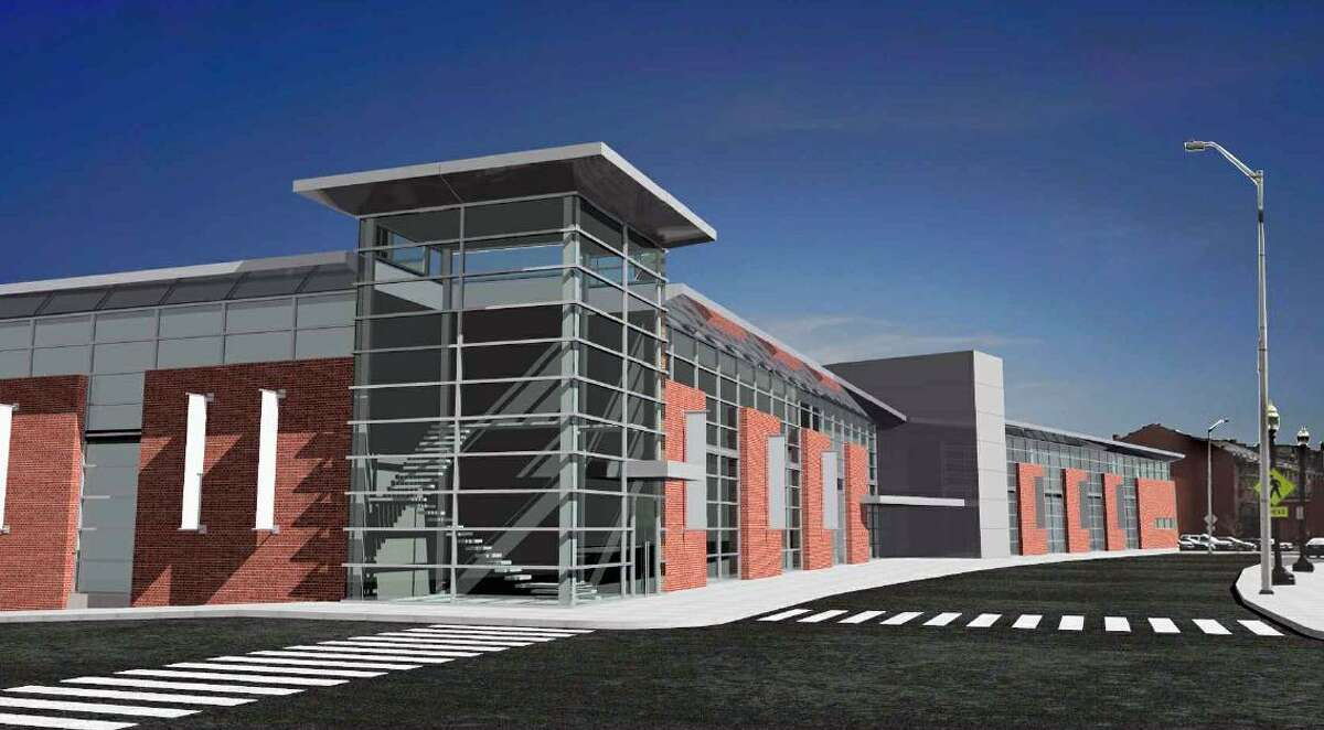 A rendering of the Park City Ice Palace skating rink facility proposed for downtown Bridgeport.