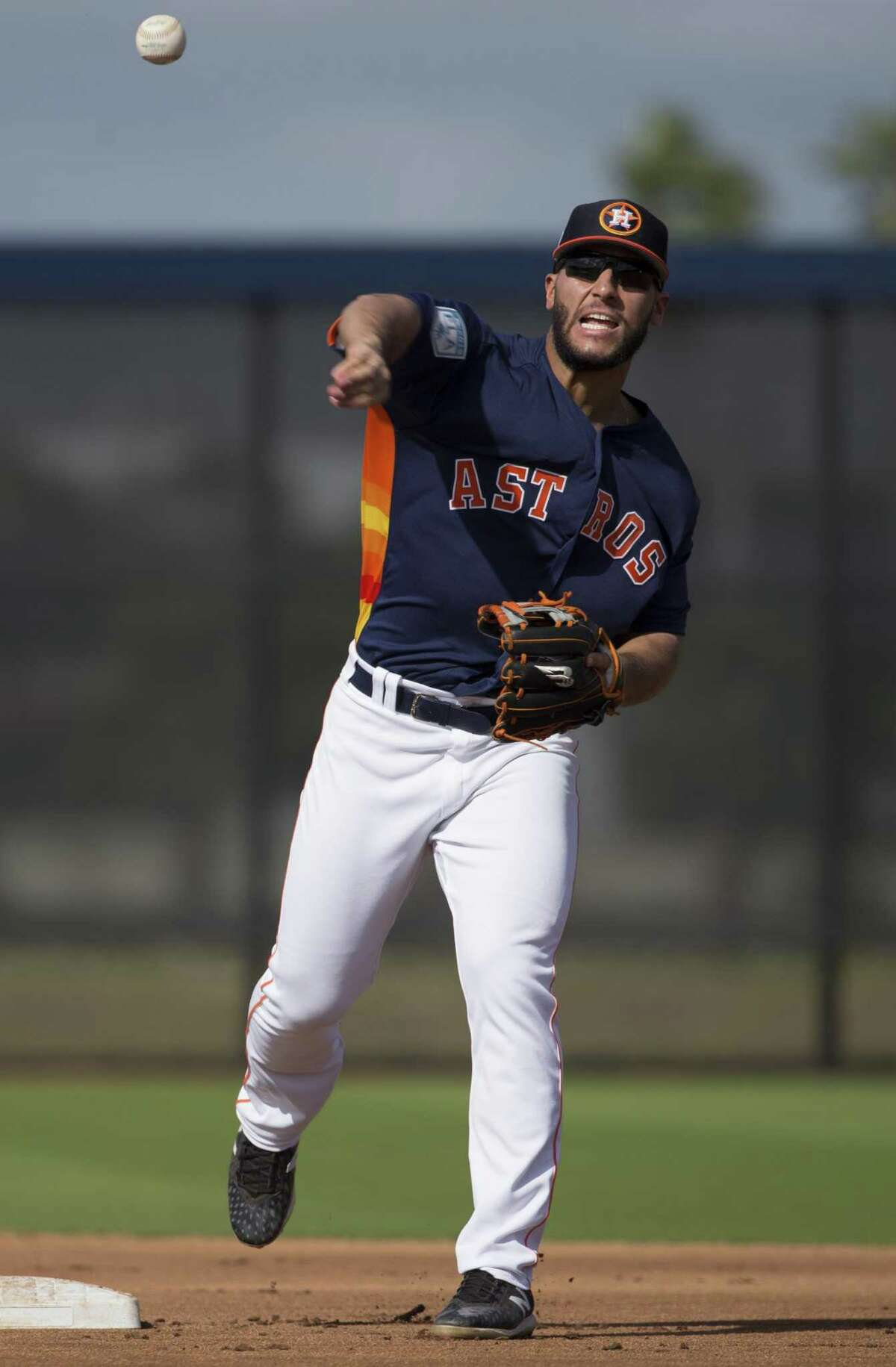 Astros infielder Abraham Toro had five hits in his first 13 Grapefruit League plate appearances.