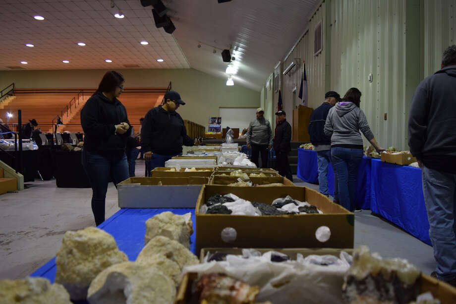 Vendors showcase rocks and minerals during 57th annual Hi-Plains Gem and Mineral Show. Photo: Josh Harris/Courtesy Photos