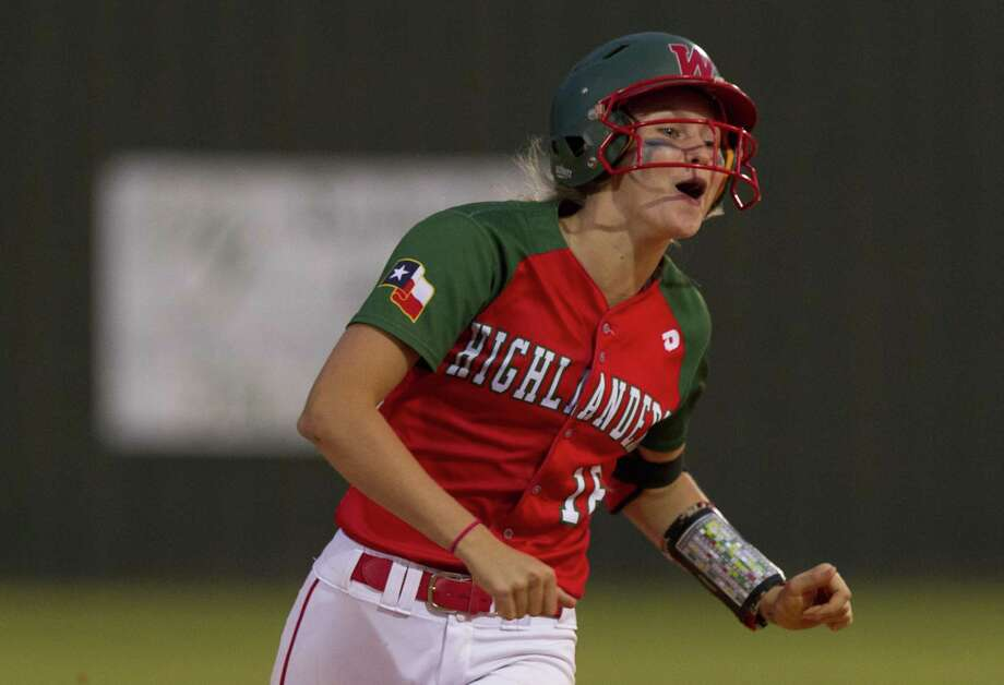 In this file photo, Skylar Sirdashney (16) of The Woodlands reacts after hitting hitting a two-run homer during the fourth inning of a District 12-6A high school softball game, Friday, April 20, 2018, in The Woodlands. Photo: Jason Fochtman, Staff Photographer / Houston Chronicle / © 2018 Houston Chronicle